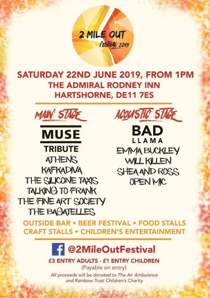 2 Mile Out Festival 2019 poster